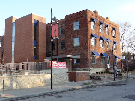 Construction 2011. 20 units of affordable housing in six historic buildings in KC's Jazz District